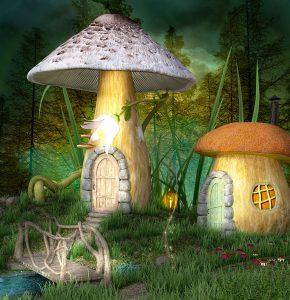 Mushroom Cottages Jigsaw Puzzle