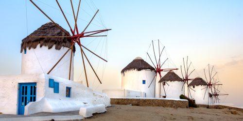 Mykonos Windmills Jigsaw Puzzle