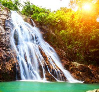 Na Muang 1 Waterfall Jigsaw Puzzle