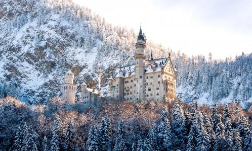 Neuschwanstein in Winter Jigsaw Puzzle