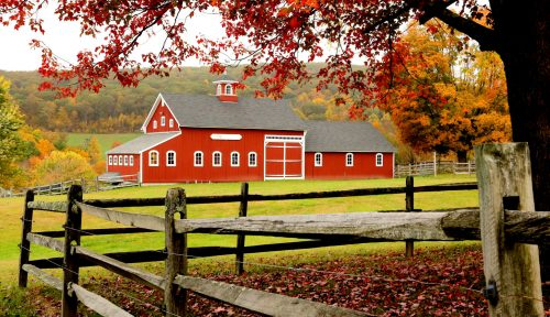 New England Barn Jigsaw Puzzle