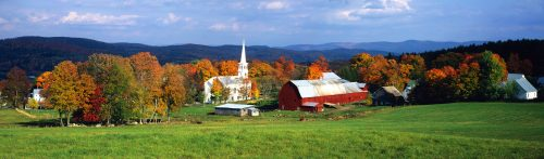 New England Village Jigsaw Puzzle
