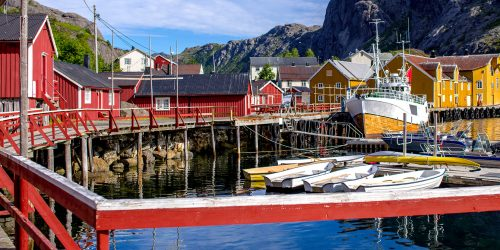 Nusfjord Harbor Jigsaw Puzzle