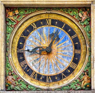 Old Church Clock Jigsaw Puzzle
