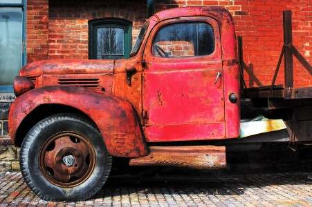 Old Red Truck Jigsaw Puzzle
