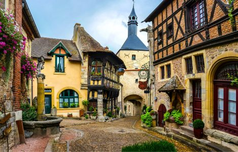 Old Rothenburg Street Jigsaw Puzzle