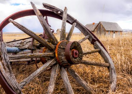 Old Wheel Jigsaw Puzzle