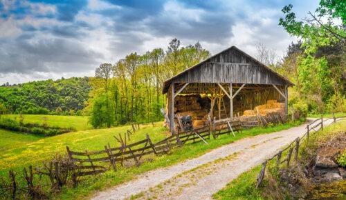 Open Hay Barn Jigsaw Puzzle