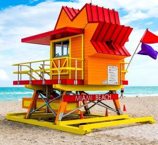 Orange Lifeguard Tower Jigsaw Puzzle