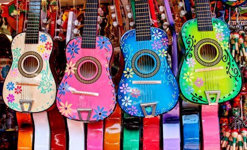 Painted Guitars Jigsaw Puzzle