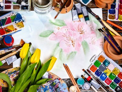 Painting Flowers Jigsaw Puzzle