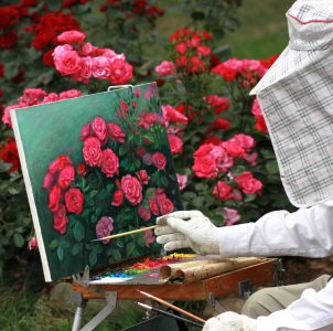 Painting Roses Jigsaw Puzzle