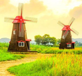 Park Windmills Jigsaw Puzzle