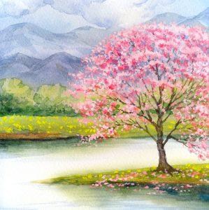 Peach Tree Jigsaw Puzzle