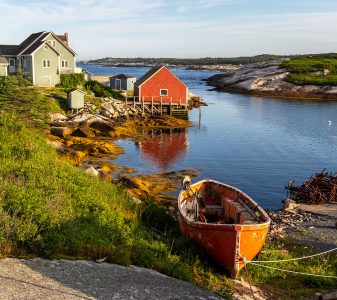 Peggy's Cove Boat Jigsaw Puzzle