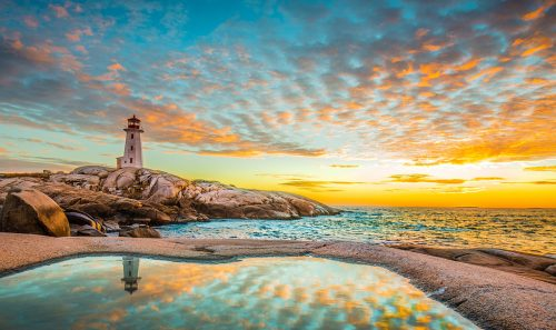 Peggy's Cove Lighthouse Jigsaw Puzzle