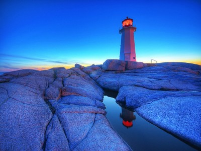 Peggy's Point Lighthouse Jigsaw Puzzle
