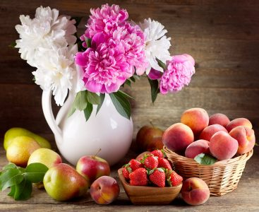 Peonies and Fruit Jigsaw Puzzle