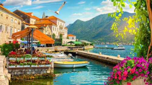 Perast Waterfront Jigsaw Puzzle