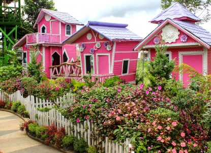Pink Playhouses Jigsaw Puzzle