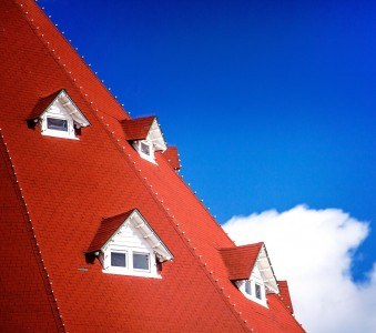 Pitched Red Roof Jigsaw Puzzle