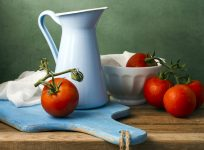 Pitcher and Tomatoes