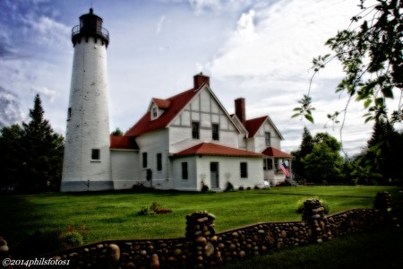 Point Iroquois Lighthouse Jigsaw Puzzle
