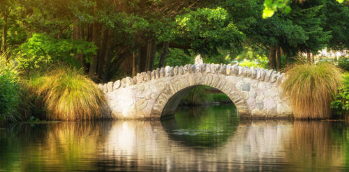 Pond Bridge Jigsaw Puzzle