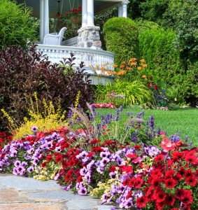 Porch and Flowers Jigsaw Puzzle