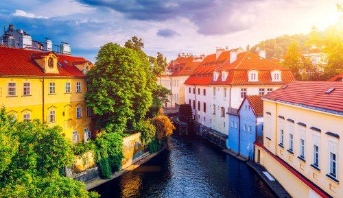 Prague Canal Jigsaw Puzzle