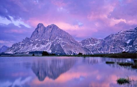 Purple Mountain Jigsaw Puzzle