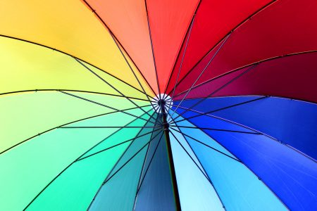 Rainbow Umbrella Jigsaw Puzzle