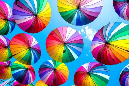 Rainbow Umbrellas Jigsaw Puzzle
