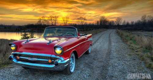 Red '57 Chevy Jigsaw Puzzle
