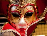 Red and White Mask