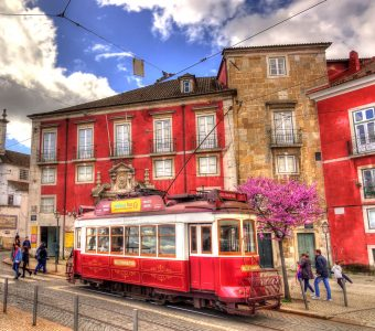 Red and White Tram Jigsaw Puzzle