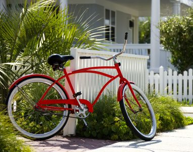 Red Beach Bike Jigsaw Puzzle