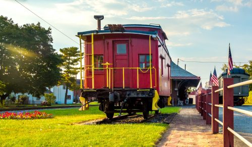 Red Caboose Jigsaw Puzzle