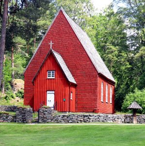 Red Church Jigsaw Puzzle