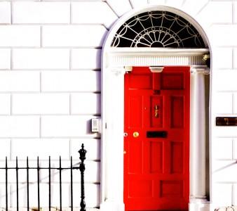 Red Georgian Door Jigsaw Puzzle