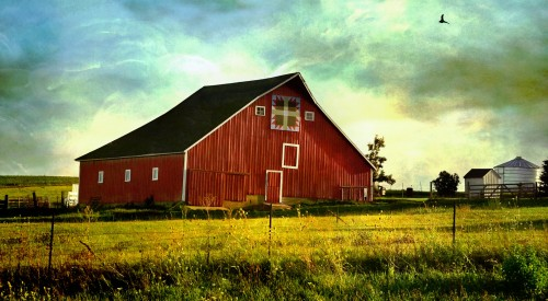 Red Iowa Barn Jigsaw Puzzle