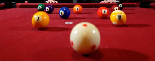 Red Pool Table Jigsaw Puzzle