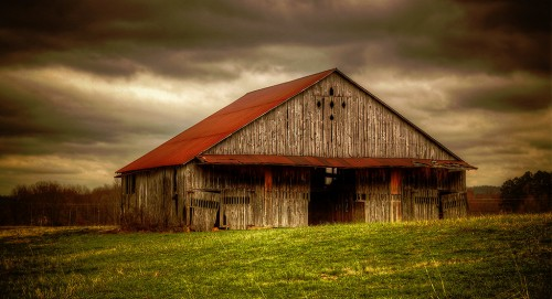 Red Roof Barn Jigsaw Puzzle