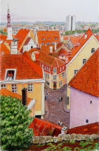 Red Roofs Jigsaw Puzzle