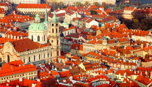 Red Roofs of Prague Jigsaw Puzzle