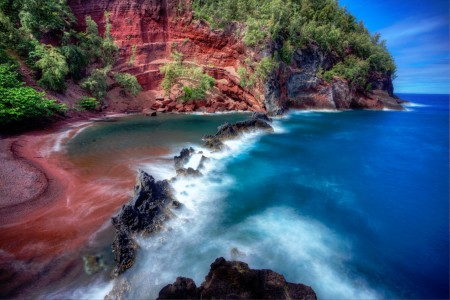 Red Sand Beach Jigsaw Puzzle