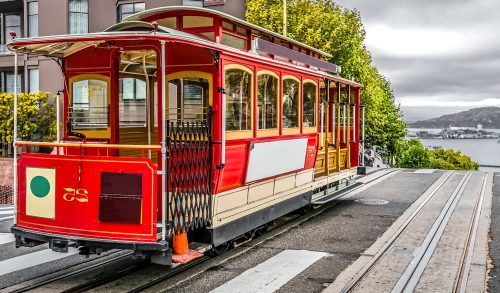 Red Cable Car Jigsaw Puzzle