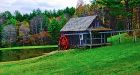 Red Waterwheel