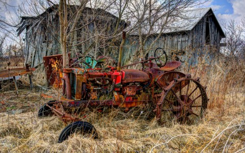 Retired Tractor Jigsaw Puzzle