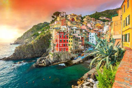 Riomaggiore Sunset Jigsaw Puzzle